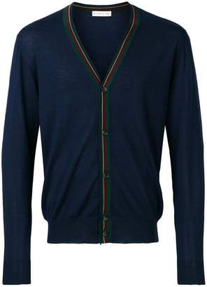 Etro striped placket cardigan