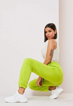 Missguided Tall Lime 90'S Joggers, Lime