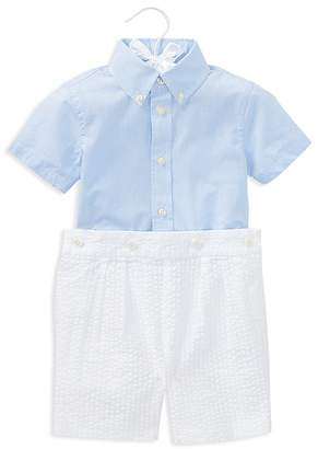 Ralph Lauren Boys' Poplin Shirt & Seersucker Shorts Set - Baby