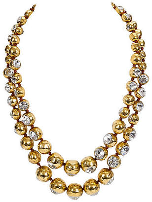 One Kings Lane Vintage Chanel Double-Strand Crystal Necklace - Vintage Lux