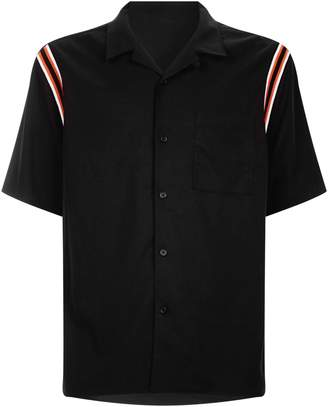 Solid Homme Bowling Stripe Detail Short-Sleeve Shirt