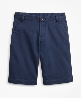Brooks Brothers Boys Stretch-Cotton Chino Shorts