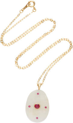 Cvc Stones My Sweetheart 18K Gold Stone And Ruby Necklace