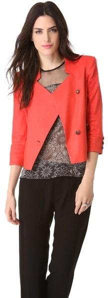Helmut Lang Glossy Linen Jacket