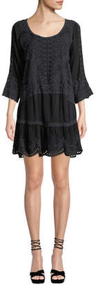 Johnny Was Dotted Geo Tunic Dress with Slip