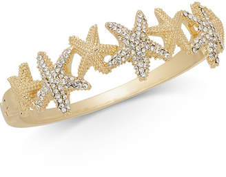 Charter Club Gold-Tone Pave Starfish Bangle Bracelet