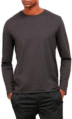 Kenneth Cole New York Men's Long Sleeve Two-Tone Crew