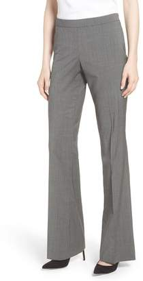 BOSS Tulea Mini Houndstooth Stretch Wool Bootcut Trousers