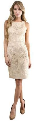 Sue Wong - S9102 Sleeveless Dress in Beige $609 thestylecure.com