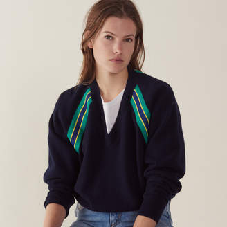 Sandro Long-sleeved sweater with braid trim