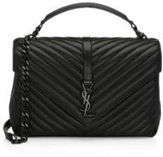 Saint Laurent Large College Matelasse Leather Shoulder Bag