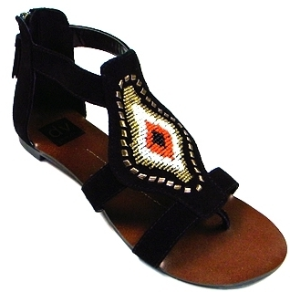 Dolce Vita - Black Donovan Beaded Sandal