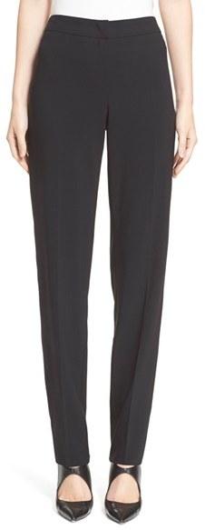 Women's Armani Collezioni Straight Leg Wool Pants