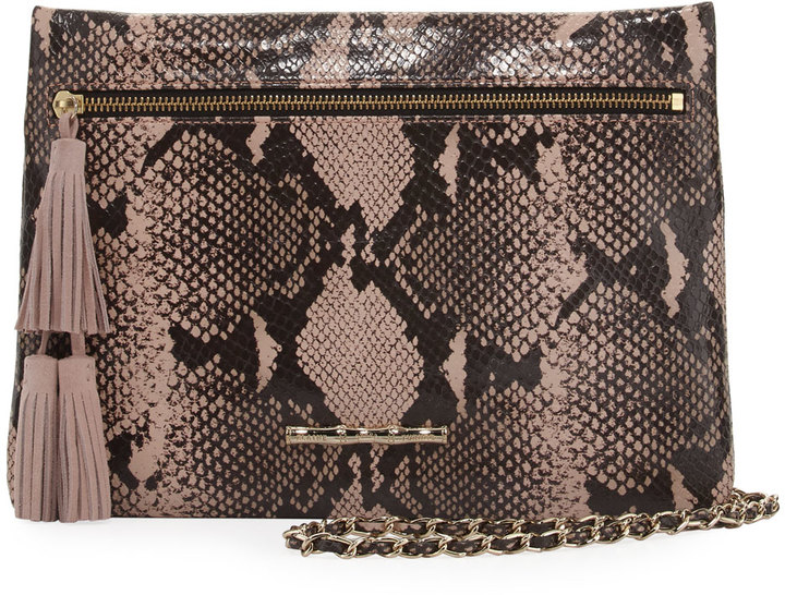 Elaine Turner Sonata Embossed Chain Shoulder Bag, Python