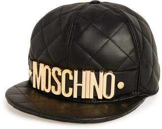 f182559884f93 Moschino Quilted Leather Baseball Cap
