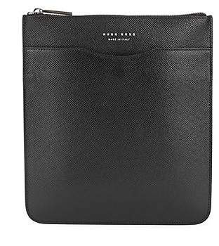HUGO BOSS Signature Collection envelope bag in printed Italian calf leather