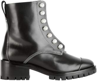 3.1 Phillip Lim Hayett Pearl Stud Combat Boots $750 thestylecure.com