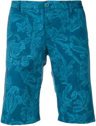 Etro wild nature printed shorts