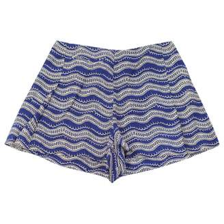 Tocca Blue Silk Shorts for Women
