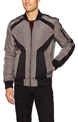 X-Ray Men's Slim Fit Washed Varsity Jacket
