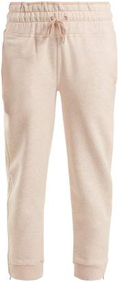 adidas by Stella McCartney Essential cotton-blend cropped track pants