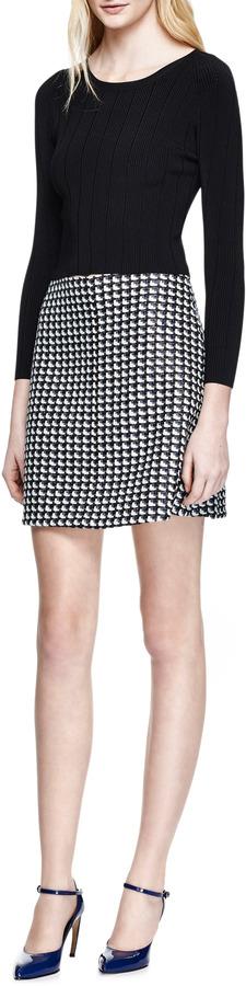Carven Tweed A-Line Skirt