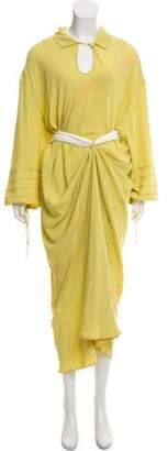 Marni Silk Maxi Dress Green Silk Maxi Dress