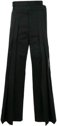 Saint Laurent tie-waist flared trousers