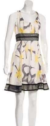 Carmen Marc Valvo Silk Mini Dress