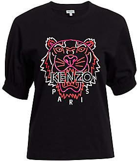 Kenzo Women's Neon Tiger Cotton Tee