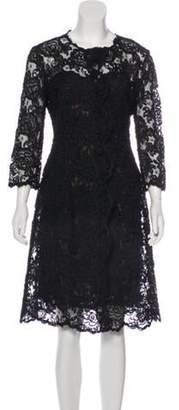 Oscar de la Renta Lace Dress Set Black Lace Dress Set