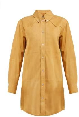 Etoile Isabel Marant Senna Western Suede Shirtdress - Womens - Camel