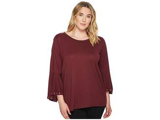 MICHAEL Michael Kors Size High-Low Flutter Sleeve Top Women's Clothing