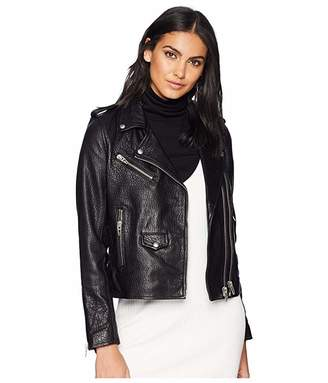 Blank NYC Genuine Leather Moto Jacket in Vice Lord