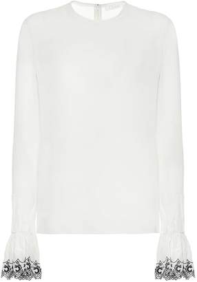 Chloé Embroidered silk blouse