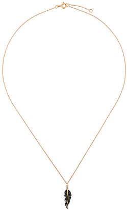 Diane Kordas diamond leaf charm necklace