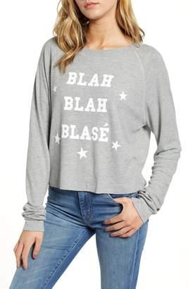 Wildfox Couture Monte - Blah Blah Blase Crop Pullover