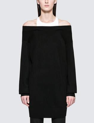 Alexander Wang Bi-layer Knit Dress With Inner Tank