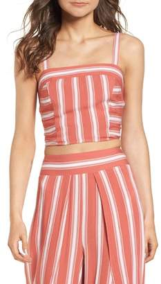 Band of Gypsies Stripe Smocked Crop Top