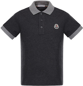 Moncler Two-Tone Short-Sleeve Polo Shirt, Size 8-14