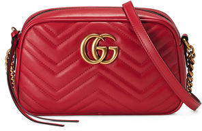 Gucci GG Marmont 2.0 Small Quilted Camera Bag $1,200 thestylecure.com