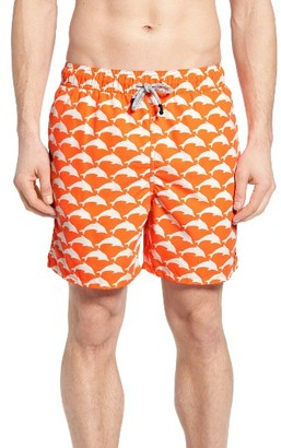Men's Tom & Teddy Dolphin Print Swim Trunks $94.95 thestylecure.com