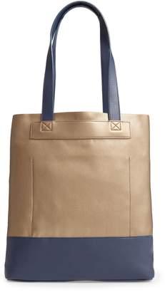 BP Metallic Colorblock Faux Leather Tote Bag