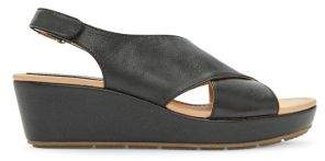 Me Too Arena Leather Cross-Strap Platform Sandals