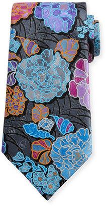 Ermenegildo Zegna Quindici 3D Flower Tie, Charcoal $285 thestylecure.com