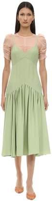 Couture Caftanii Silk Cady Midi Dress