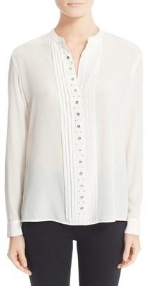 Women's Belstaff Becca Studded Silk Blouse $675 thestylecure.com