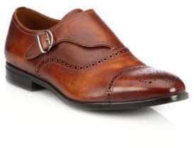 Bally Lanor Perforated Monk-Strap Dress Shoes