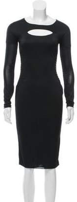Gucci Long Sleeve Cut-Out Dress Black Long Sleeve Cut-Out Dress