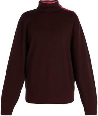 Lanvin Press-stud high-neck sweater